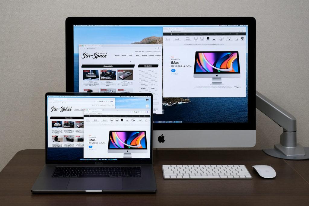 MacBook Pro 16インチとiMac 27インチ