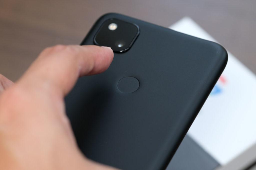 Pixel 4aの指紋認証センサー