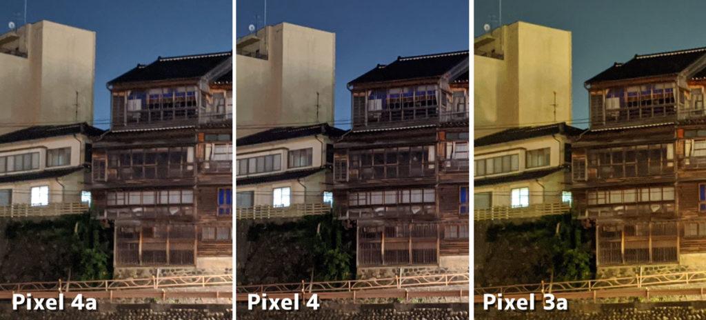 Pixelシリーズの夜景モードの画質比較