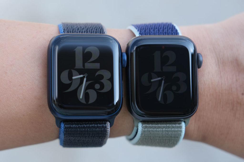 Apple Watch 6・5の常時表示の明るさの違い