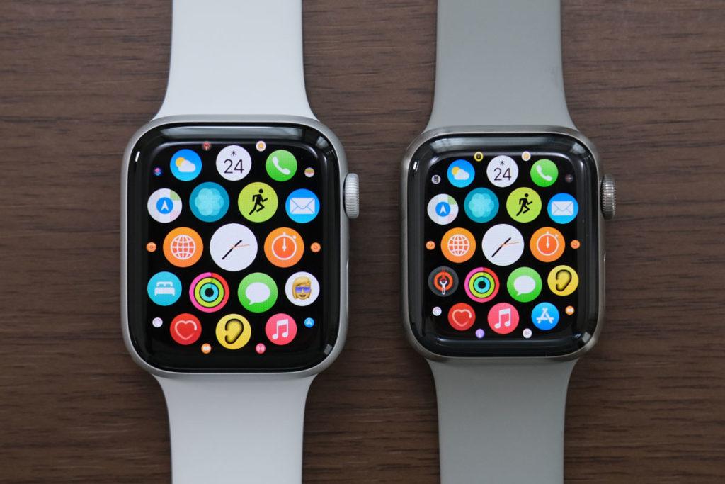 Apple Watch 44mmと40mmのサイズ差
