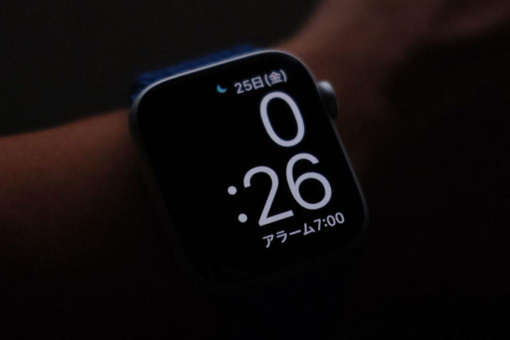 睡眠モード時の時計