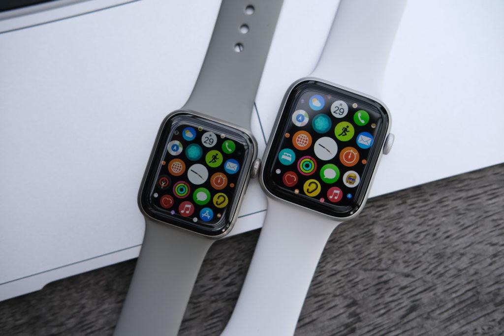 Apple Watchの画面の大きさ比較