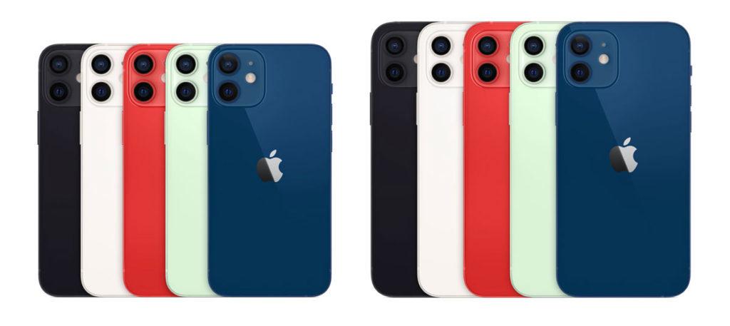 iPhone 12 mini・12の本体カラー