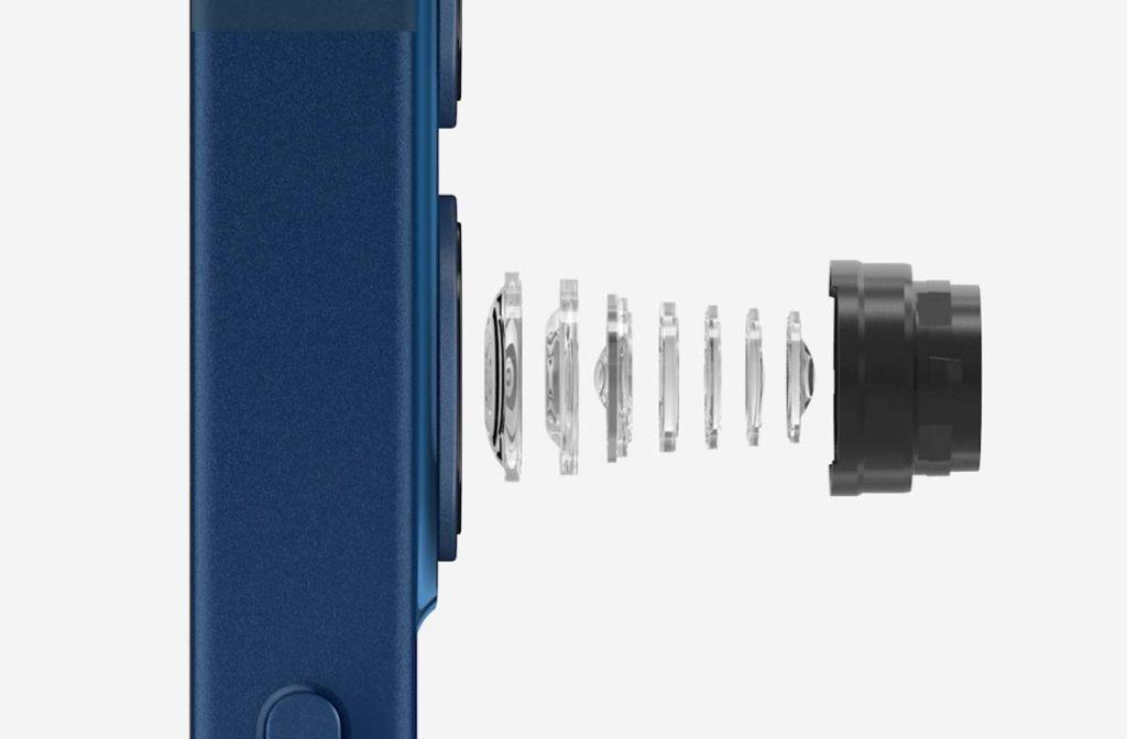 広角カメラは7枚構成のレンズに