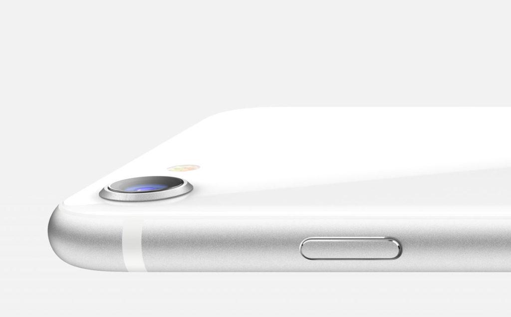 iPhone SE(第2世代)の丸みのあるスタイル