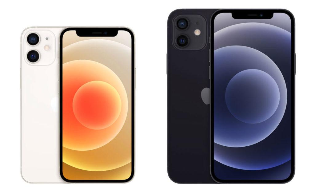 iPhone 12 miniとiPhone 12の筐体サイズ