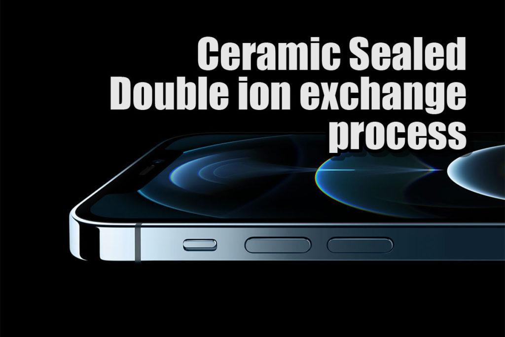 iPhone 12 セラミックシールドガラスと二重イオン交換プロセス