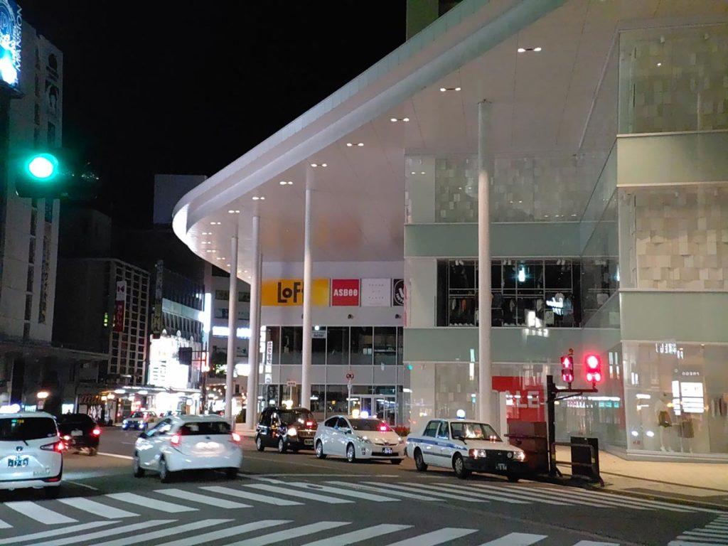 AQUOS R5Gで夜の街を撮影