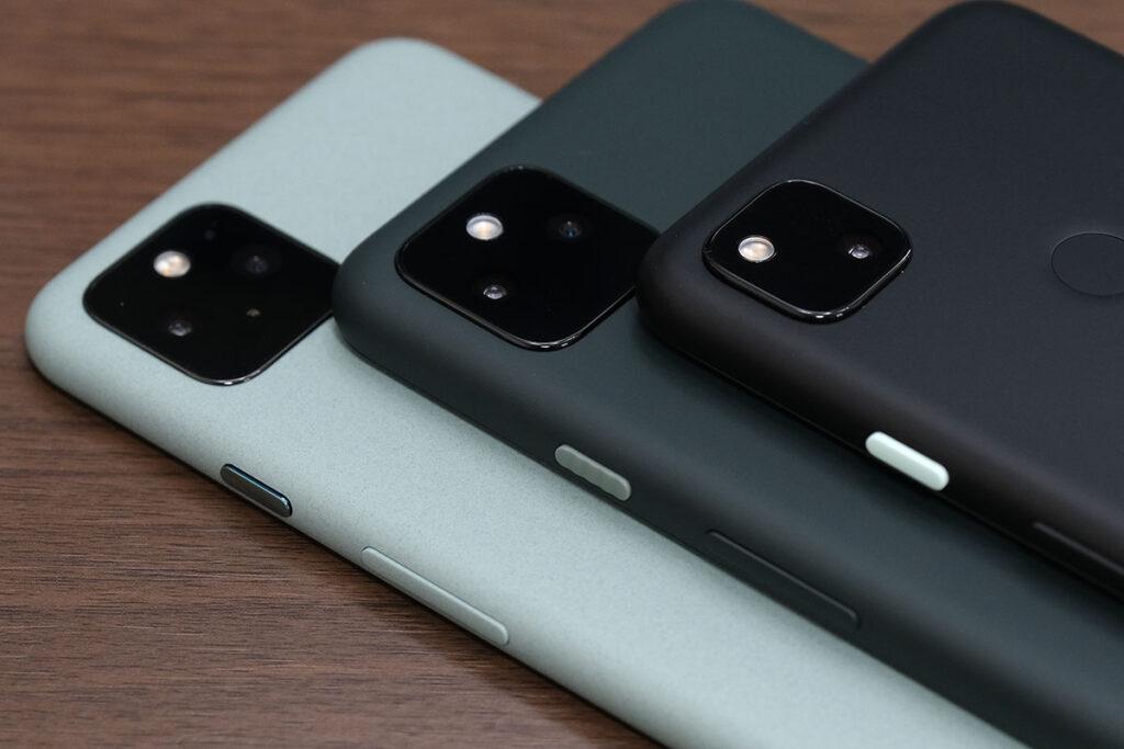 Pixel 5、Pixel 5a(5G)、Pixel4aの筐体素材