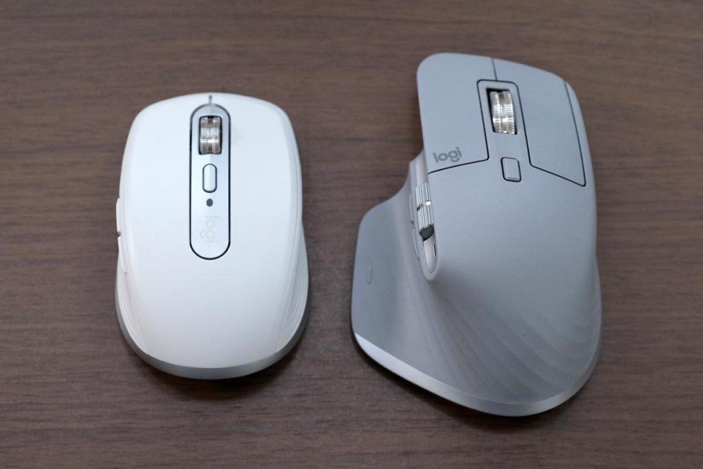 MX Anywhere 3とMX Master 3のサイズ比較