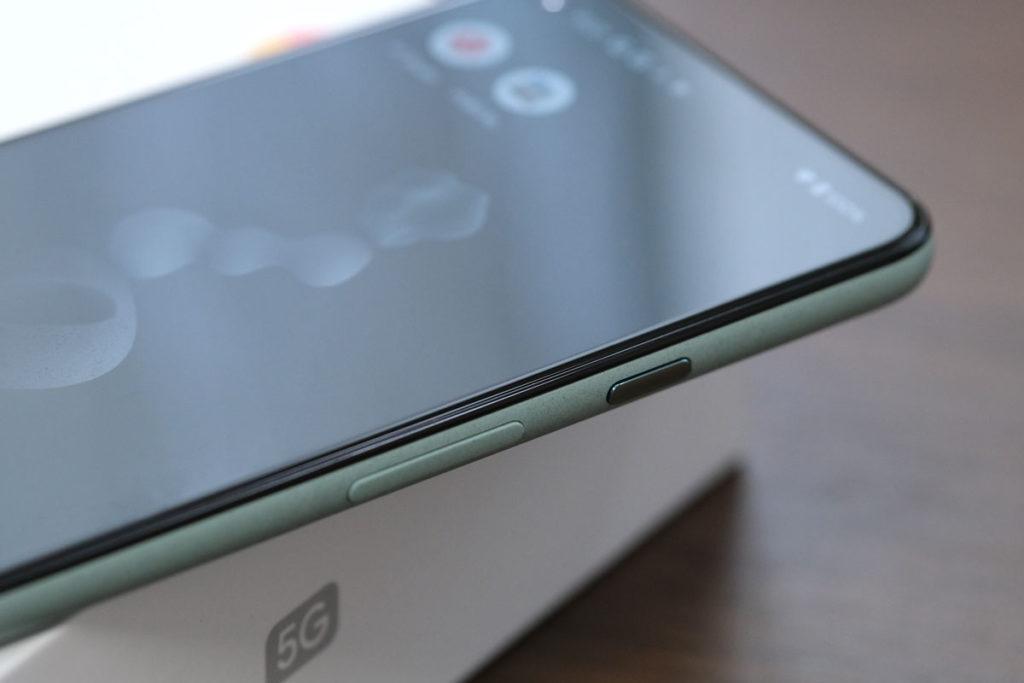 Pixel 5の操作ボタン