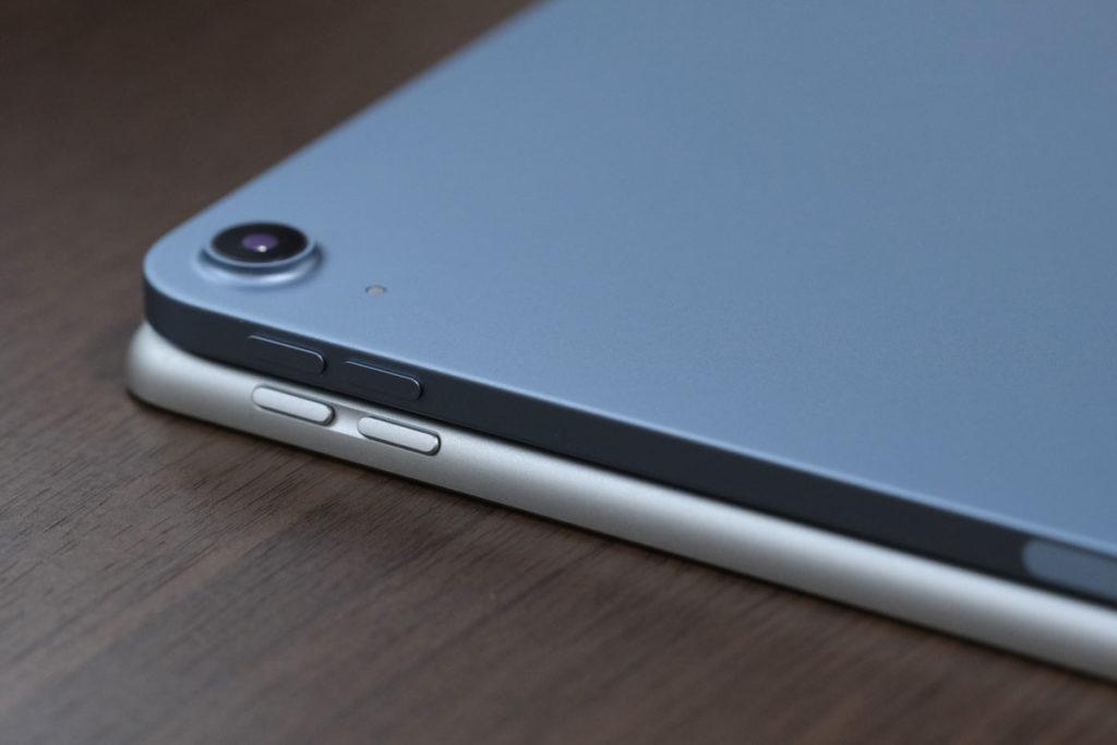 iPad Air 4とAir 3のサイド部分