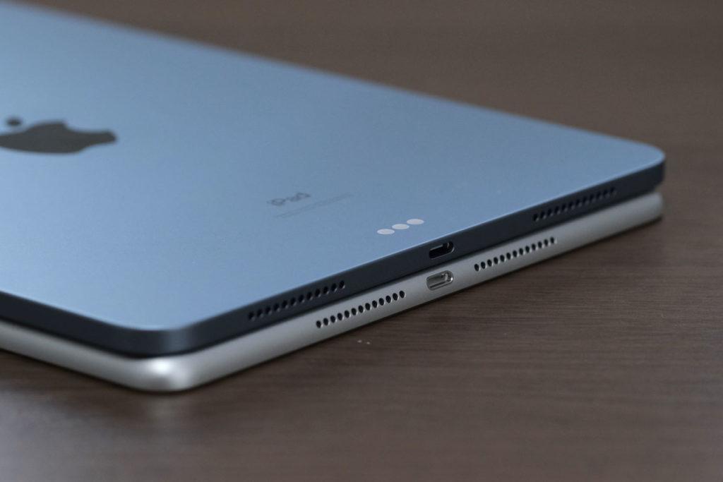 iPad Air 4とiPad 8の充電ポート