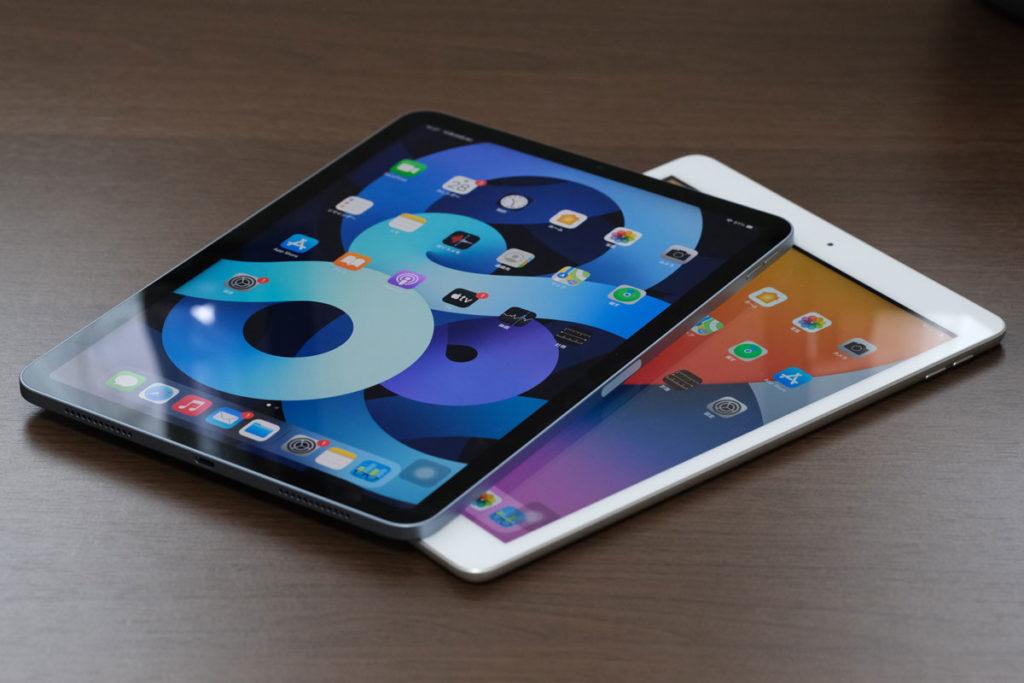 iPad Air 4とiPad(第8世代)の画面