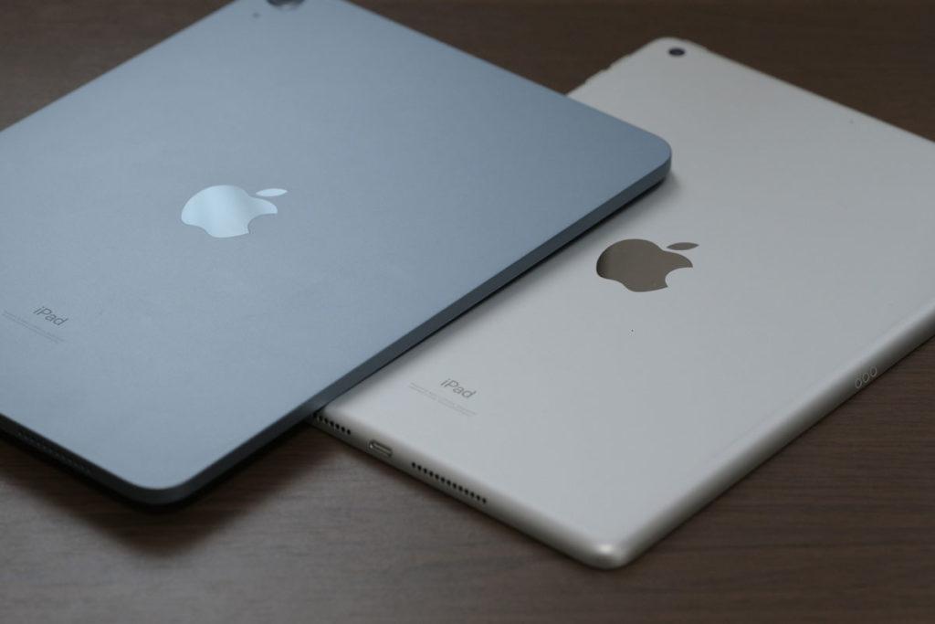 iPad Air(第4世代)とiPad(第8世代)の筐体