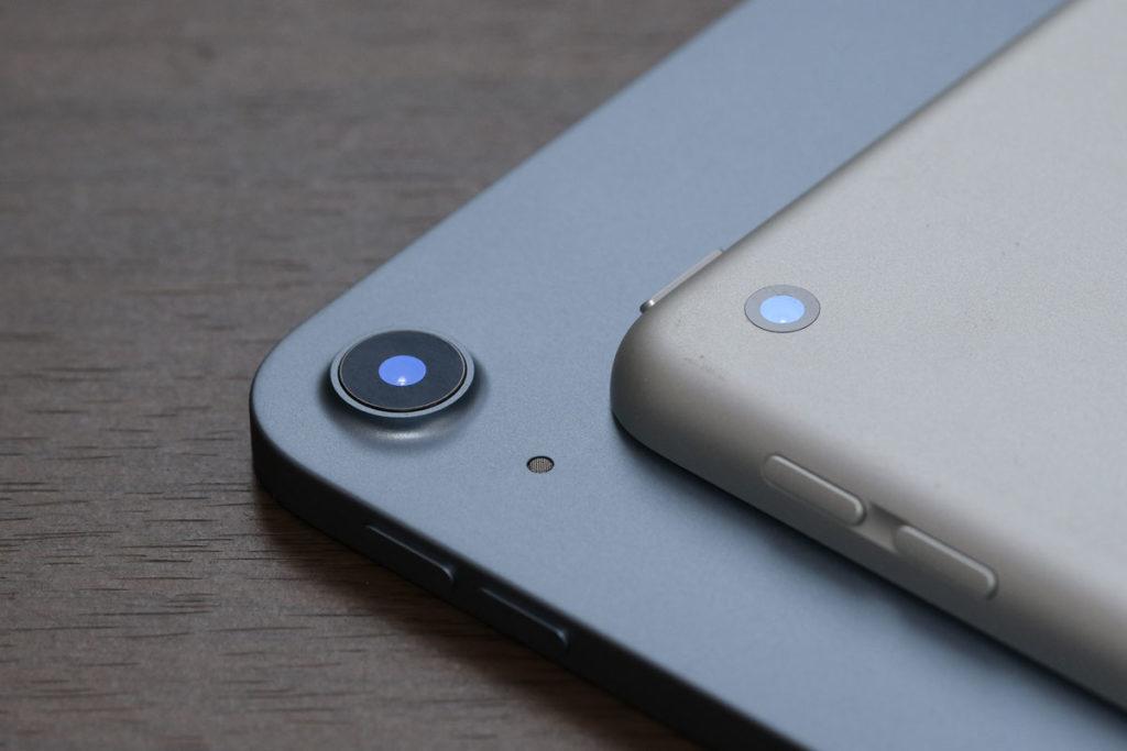 iPad Air 4とiPad 8のリアカメラ