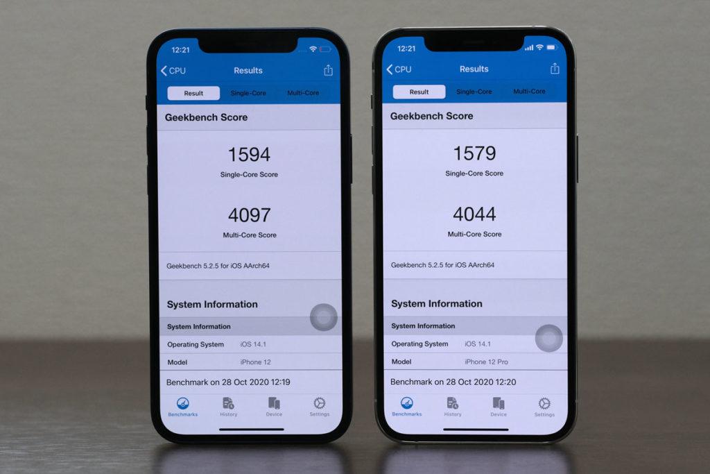 iPhone 12とiPhone 12 Proの性能比較(Geekbench 5)