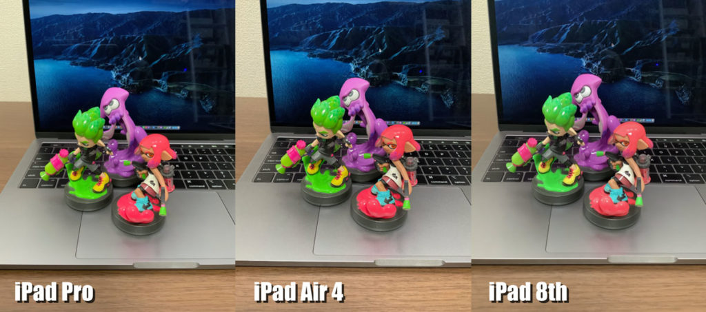 iPad Pro、iPad Air 4、iPad 8のリアカメラ画質比較