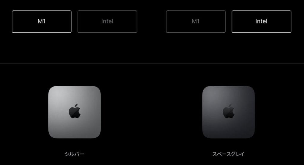 Mac miniの本体カラー