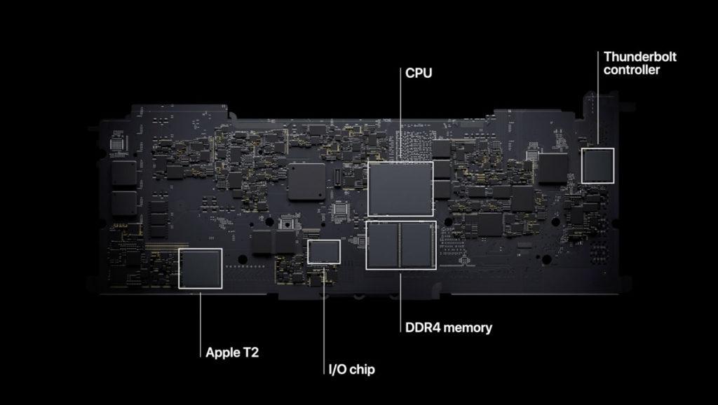 従来型のMacBookのロジックボード