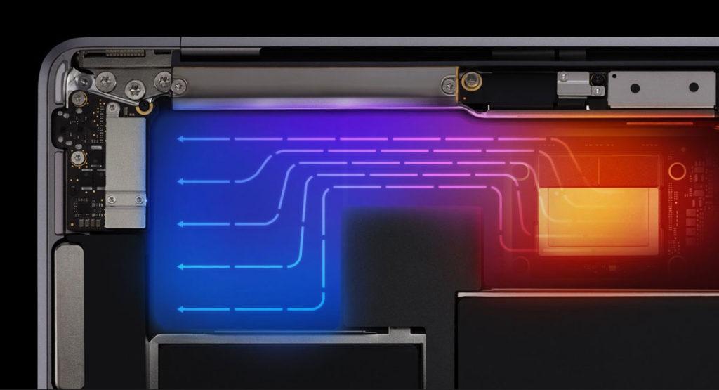 MacBook Air(M1)の放熱処理