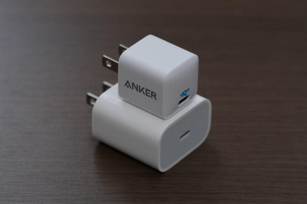 Apple純正アダプタとPowerPort III Nano 20W