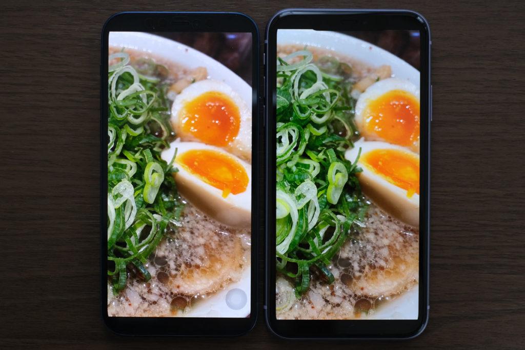 iPhone 12・11/XRの解像感(ラーメン)