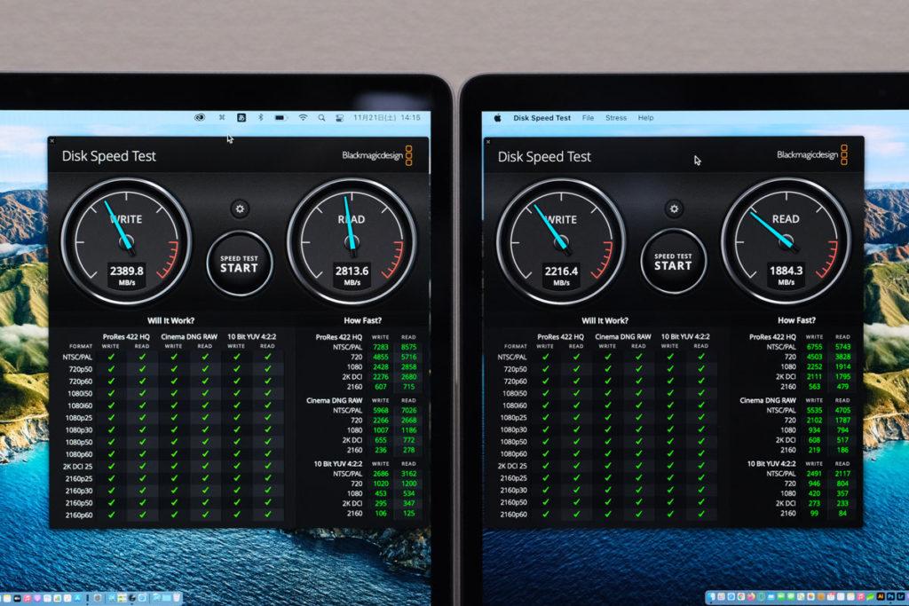 SSDの性能を比較