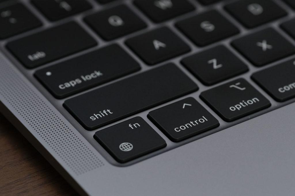 MacBook Air(m1)地球儀マークのキー