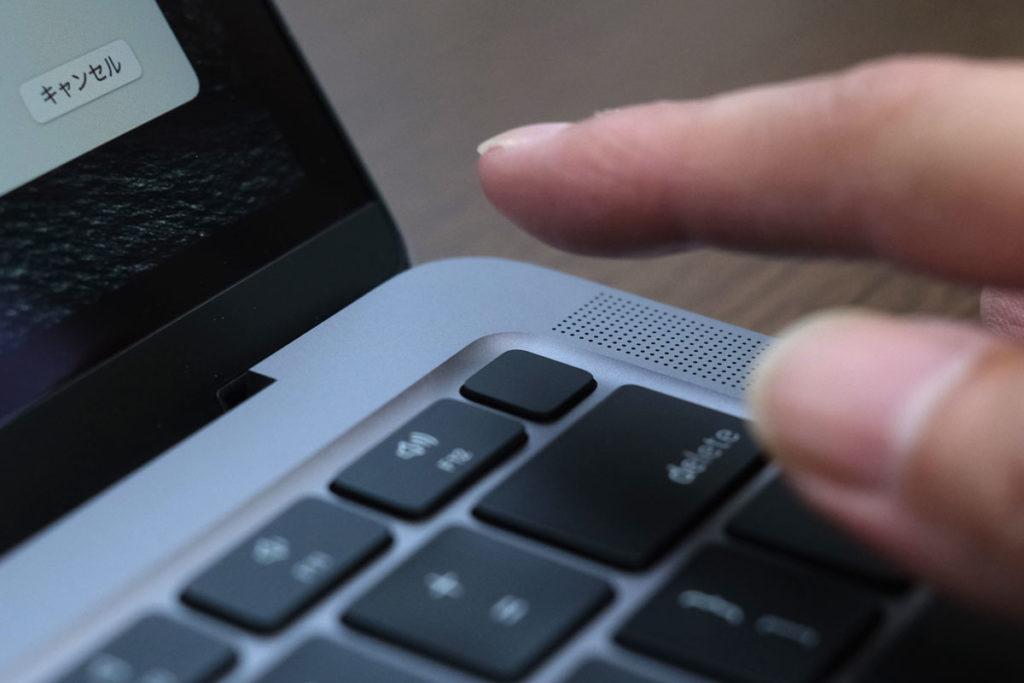 MacBook Air(M1)Touch IDを搭載している