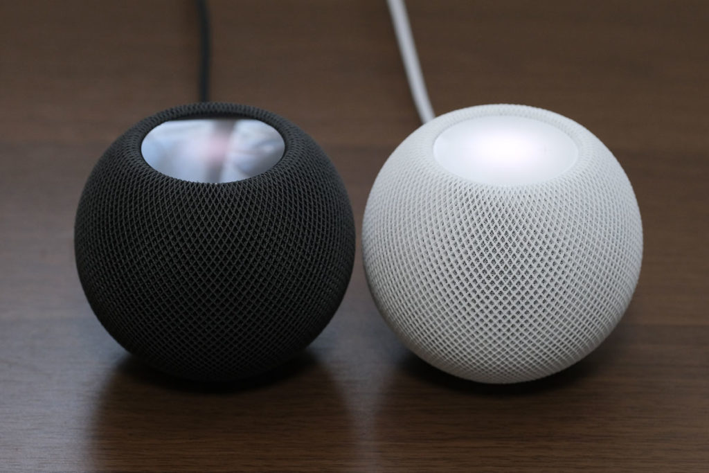 HomePod mini スペースグレイとホワイト