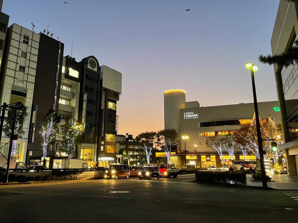 iPhone 12 miniの広角カメラで夜間撮影