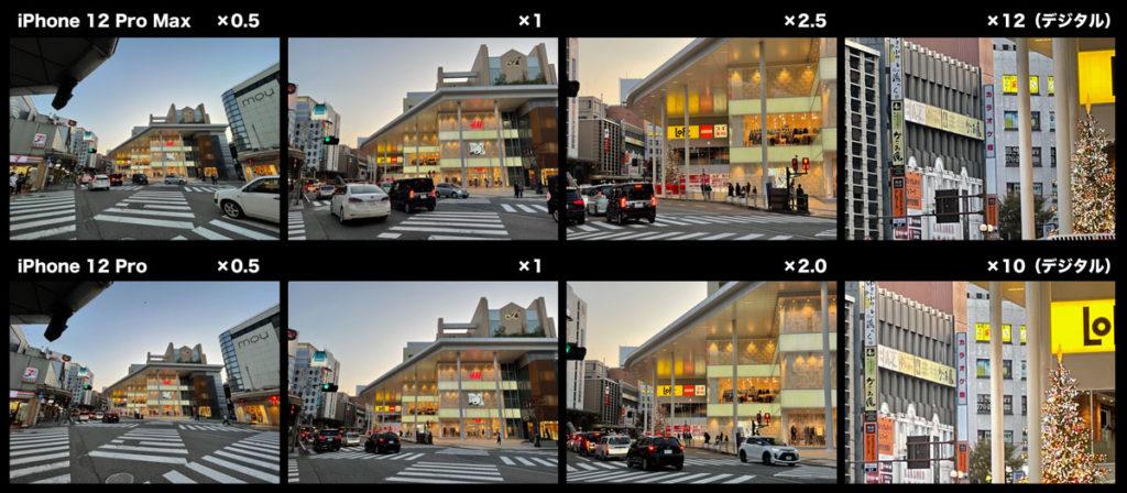 iPhone 12 Pro Max リアカメラの画角