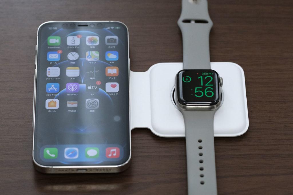 Apple Watchを寝かせて充電する