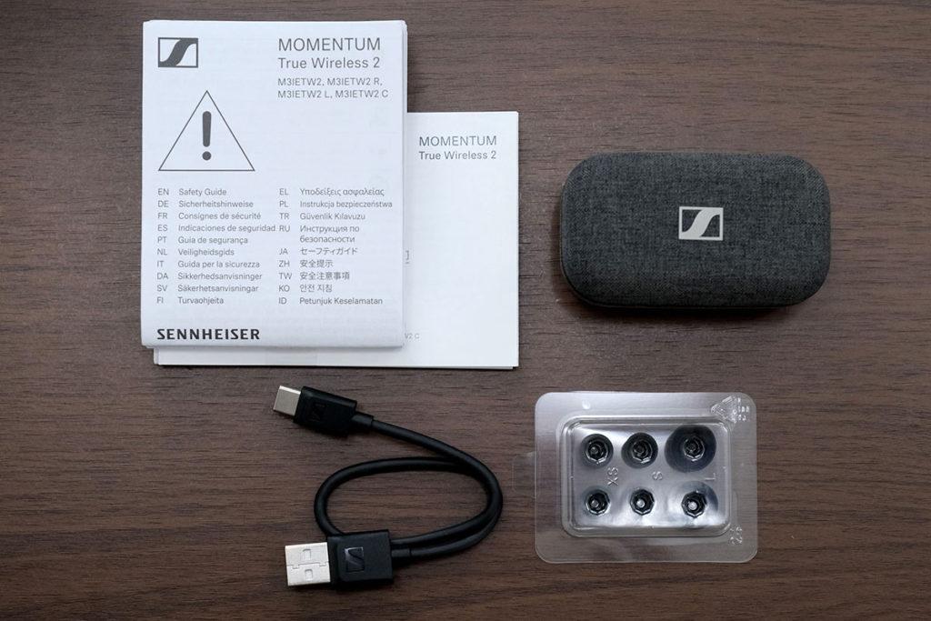 MOMENTUM True Wireless 2の同梱品