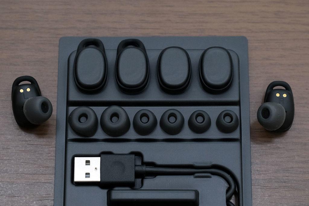 EarFun Free Proのイヤーチップ各サイズ