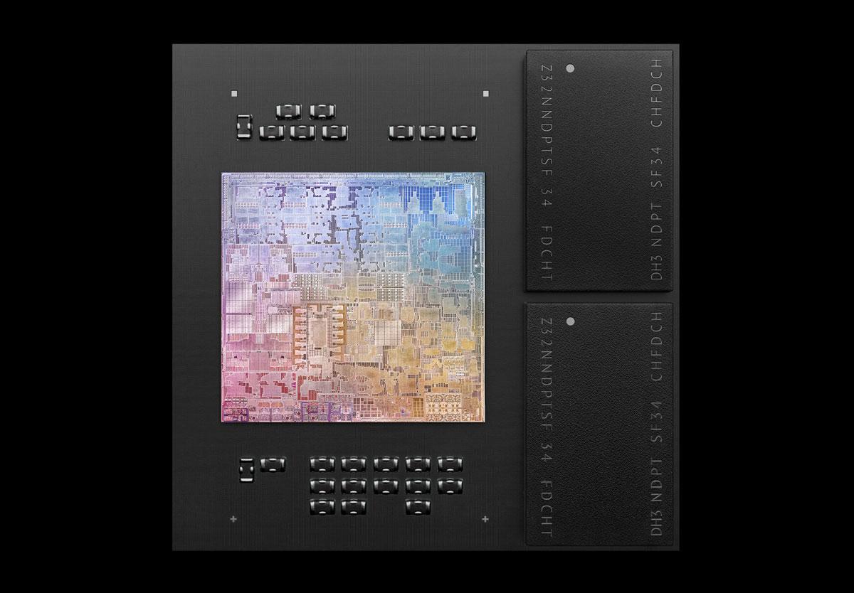 M1チップの中にDDRメモリがある