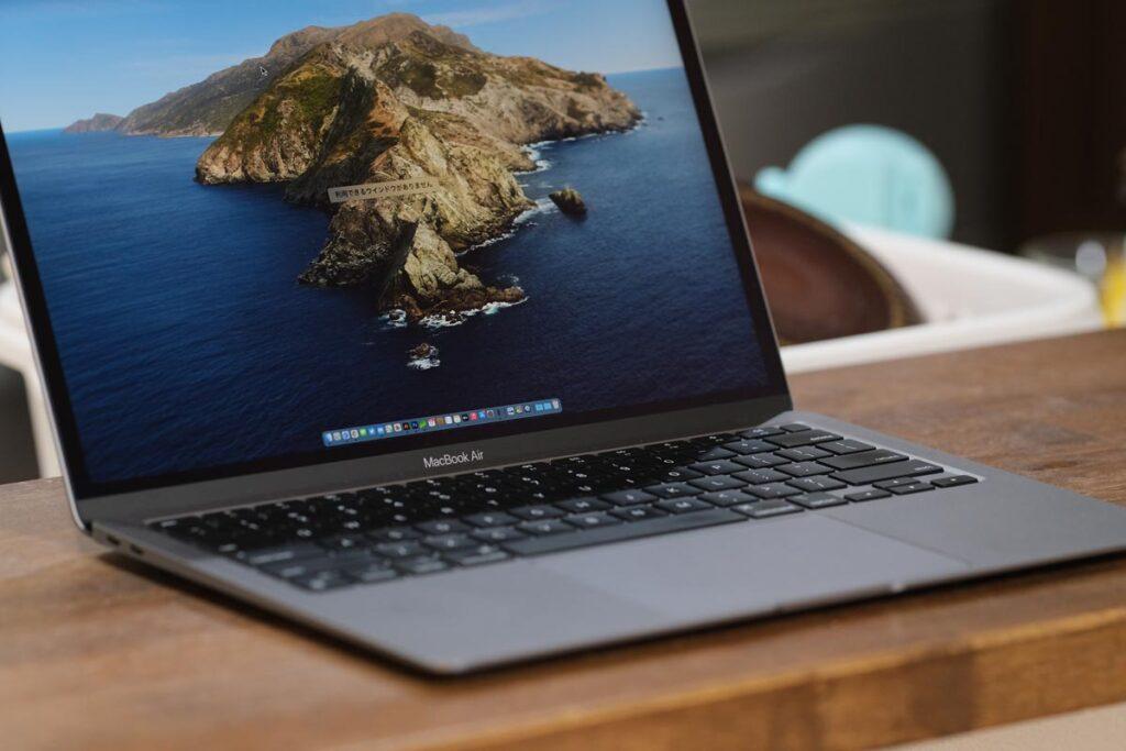 MacBook Airならどこでも作業ができる