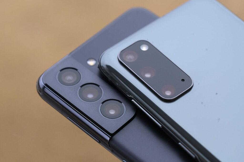 Galaxy S21とS20 リアカメラ