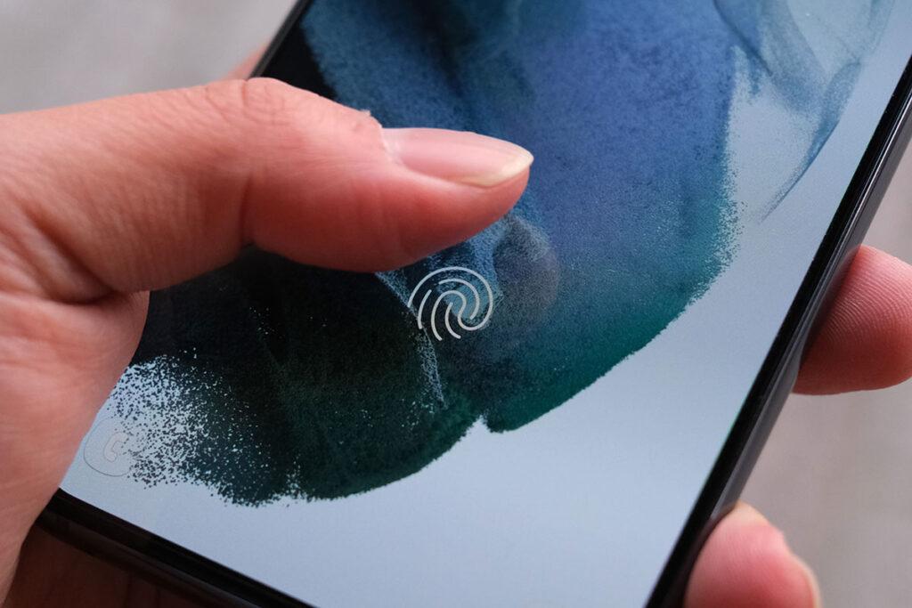 Galaxy S21 画面内指紋認証