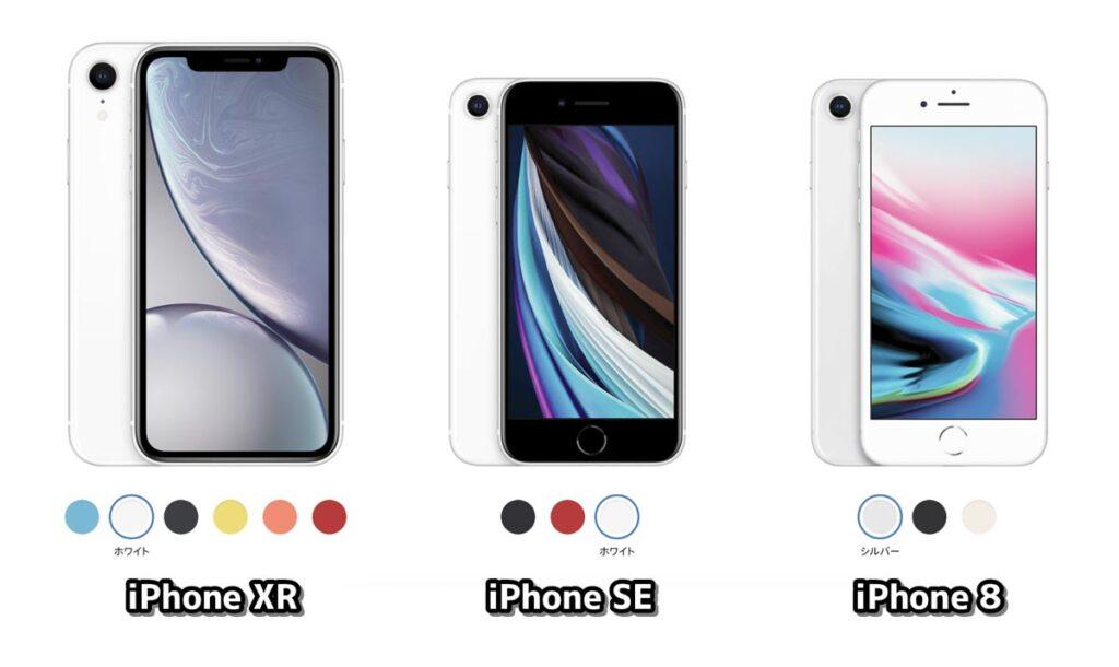 iPhone XR・SE・8 本体サイズ