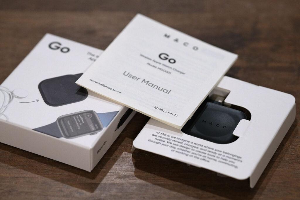 Maco Go Apple Watch充電器 説明書