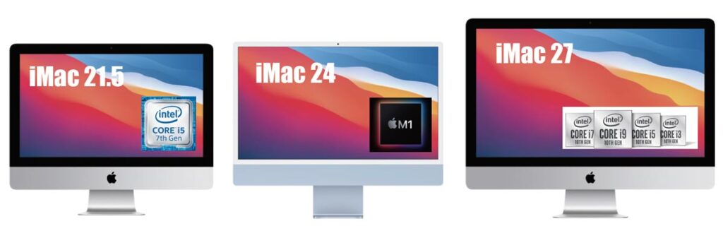 iMac 21.5 vs 24 vs 27