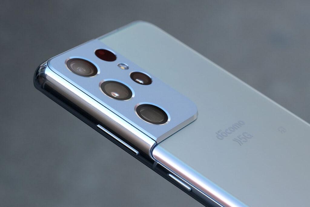 Galaxy S21 Ultra スタイリッシュなデザイン