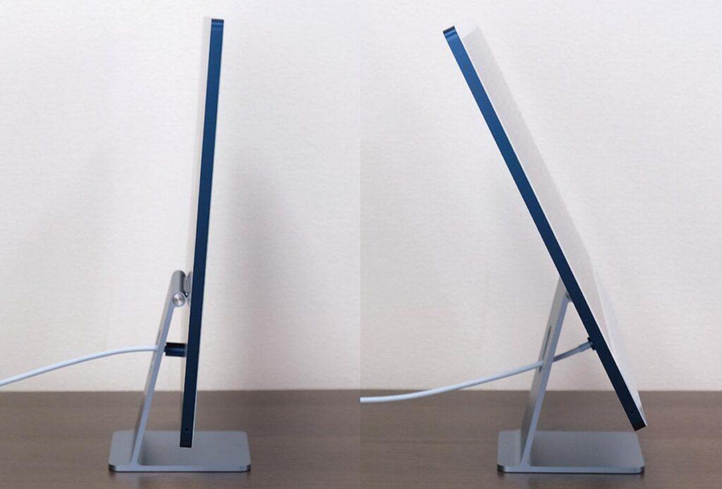 iMac 24インチ 画面の角度調整