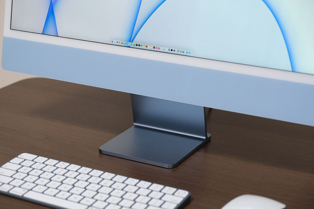 iMac 24インチのスタンド部分(正面)