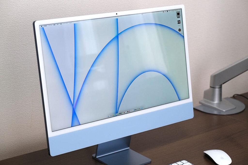iMac 24インチの正面デザイン