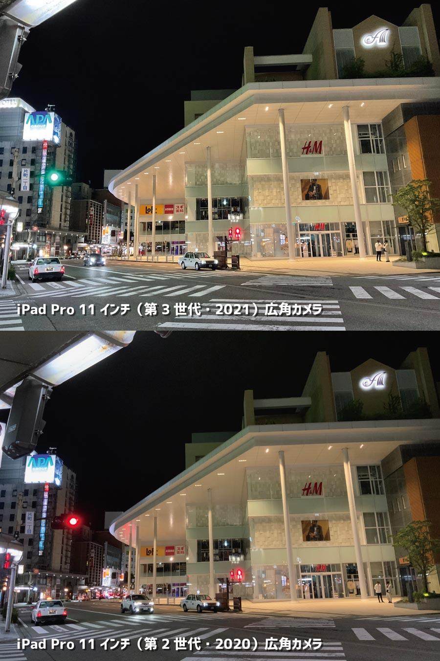 iPad Pro 11インチ(第3世代)広角カメラの画質