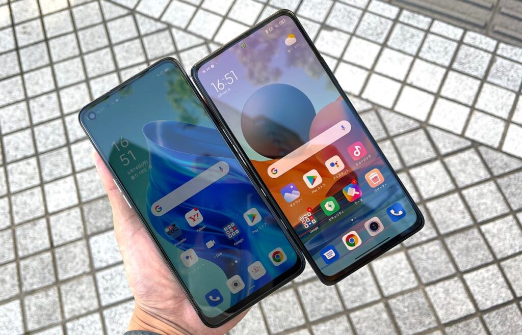 OPPO Reno5 Aの画面の明るさ
